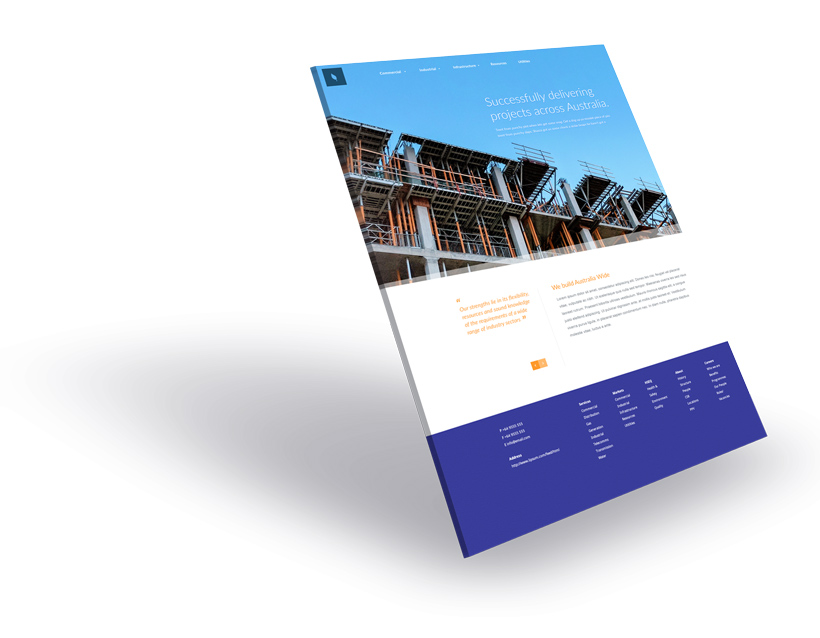 Construction Company & Builders Website Design