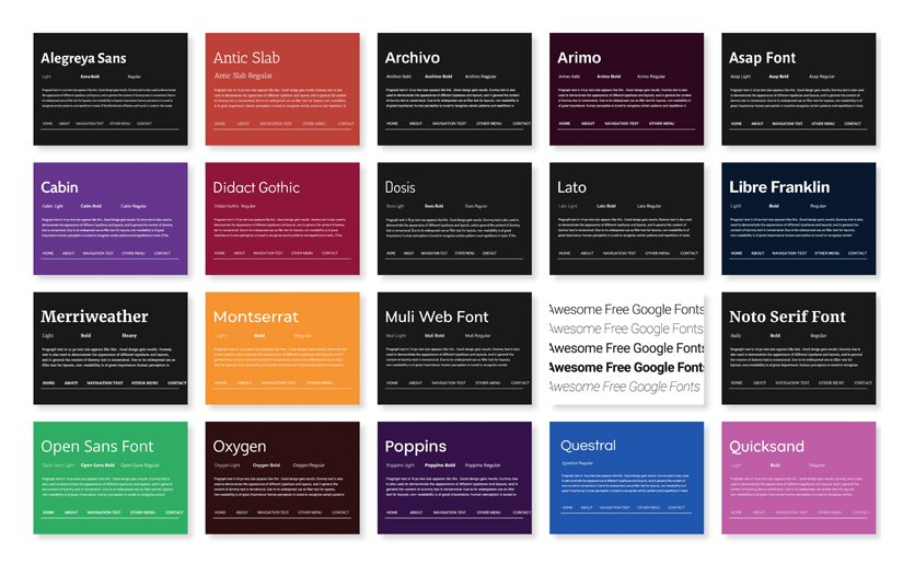 30 Free Awesome Google Web Fonts to use in your Web Designs
