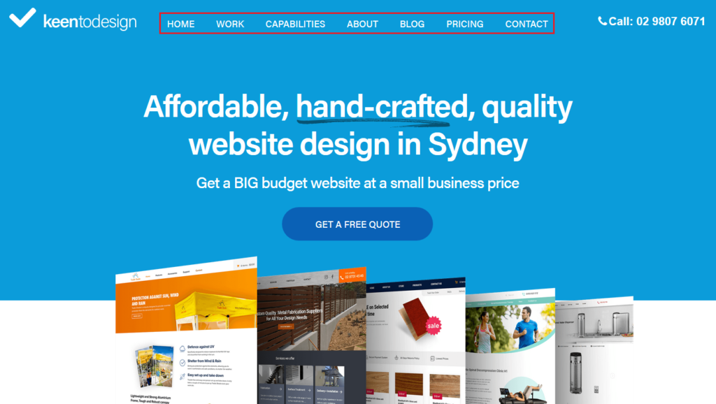 corporate website keen wordpress